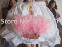 Hot seller Birthday cake baby underwear girls short petti baby pink underwear for kids 30pcs/lot