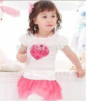 106#Free shipping wholesale NEW (2 COLORS ) Children Dress, Baby Wear 5pcs/lot