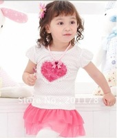 S106#Free shipping wholesale NEW (2 COLORS ) Children Dress, Baby Wear 5pcs/lot