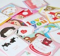 7x7cm, 200pcs/lot, Cute mini greeting cards with envelope ,gift card, Free shipping(SS-527)