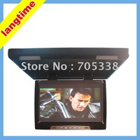19 inch car roof mount/flip down lcd monitor-with ir and lights