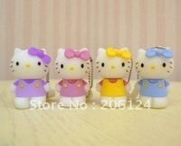 Wholesale Promotional Silicone Hello Kitty USB 2.0 1GB 2GB 4GB 8GB 16GB Cartoon Flash Drive