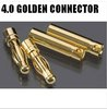 200 pairs 4.0 4 mm banana connector plug Gold Bullet Connector free shipping  6.0