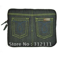 1pcs/lot Cowboy bag  Denim material bags for 10inch and ipad, hot sell by hk Post Air Mail