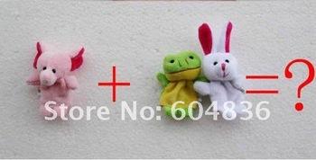 free shipping 100 pcs/lot  boy gifts  Animal Finger Puppets finger doll finger puppet t finger plush toys