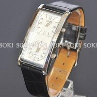 New Dress Double Time Womens Dual Quartz Ladies Leather Wrist Band Watch W037