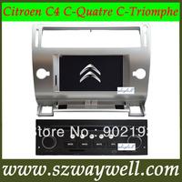 Car dvd GPS for CITROEN C4 C-QUATRE C-TRIUMPH 7inch digital panel with bluetooth ipod TV CAN BUS 4GB Free SD card free map