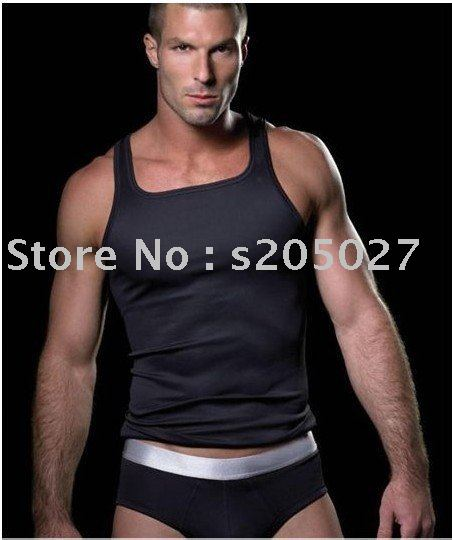 2011 Free shipping wholesale men's vest black white and green(China (Mainland))
