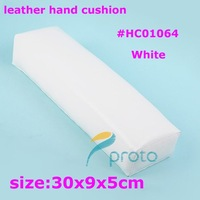 Freeshipping-White Color Hand Cushion Leather Soft Pillow Nail Art Manicure Tool Dropshipping [Retail] SKU:F0071