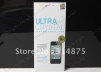 new Screen Protector fims For Iphone 4 4G Steinheil Series Ultra Crystal Anti-fingerprint Ultra Oleophobic