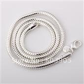 925 silver necklace silver snake necklace 4mm