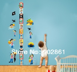 [funlife]-Removable Pirate Boy room Height Tower Growth Chart Wall sticker(China (Mainland))