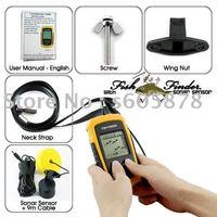 2pcs /lot Portable Sonar LCD Fish depth Finder, Alarm 100M AP,fishing iure,ice fishing finder