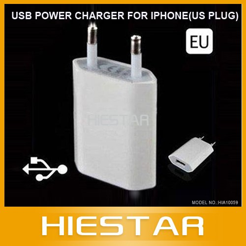 USB Wall Home Travel Charger EU Plus AC Adapter for Ipod iphone 4 4s iphoen 5 itouch cellphone MP3 MP4 Player(China (Mainland))