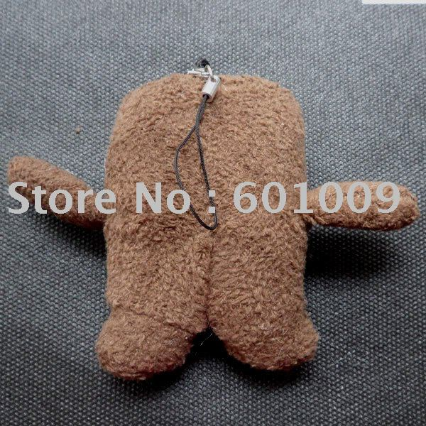Free Shipping EMS 50/Lot Domo Kun Strap PLUSH for Cell Phone iPod MP3 #L Wholesale