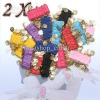 Belly Dance Wear Wrist Ankle Arm Cuffs Bracelets Match Hip Scarf Wrap Dancing Accessories 2pcs=1pair