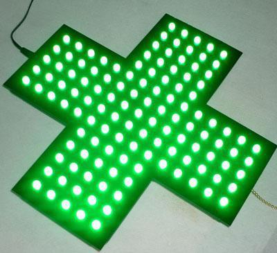 Indoor Green LED Corss Sign LED Pharmacy(China (Mainland))