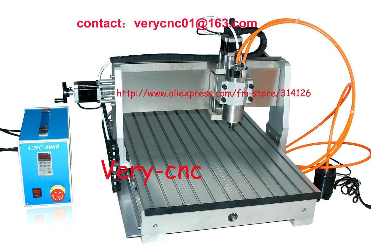 New CNC Router 6040 600*400mm 220V&110V adjustable engraving ENGRAVER DRILLING / MILLING MACHINE with 800W spindle & 1.5KW VFD(China (Mainland))