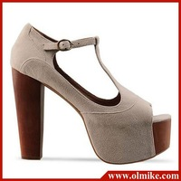HOT SALE Ladies' Sexy High heels shoes & thick Platform Eur Size 34 35 36 37 38 39 Style7 Apricot MHHS007