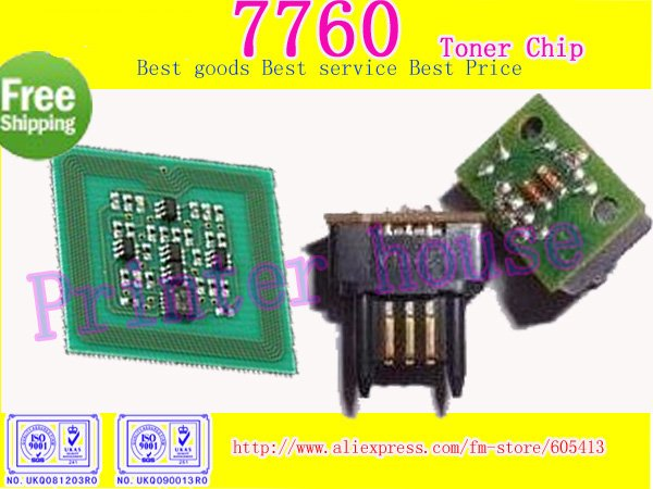 <7760 toner chip>7760 toner cartridge chip for XEROX phaser 7760 (20sets/lot Free Shipping by DHL!! )(China (Mainland))