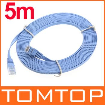 Wholesale 16 FT RJ45 Cat6 Flat Ethernet Patch Network Lan Communication Cable 5m