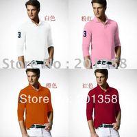 Men's long sleeve Shirts Embroidery big logo polo Shirts 2013 fashion hot sale men casual shirts