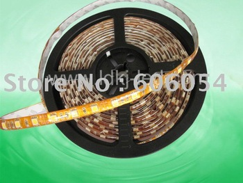 free shipping hot sell SMD 3528 ,waterproof  ,5M led flexible strip light for decoretion