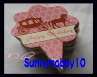 Size 6CMX8CM 600pcs/lot Happy birthday CARDS / cake decorating insert CARDS
