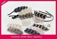 Fashion  Freeshipping  Charming  crystal Beads Heart Design Hairband Hairband Heart design  12pc/lot