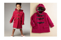 New Arrivel Long Sleeve Girl's Woolen Coat/Kids Hoodies & Sweatsh/Cute Baby Outerwear/Baby Coats/Gril's Winter Wool & Blends