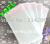 Free shipping, OPP Self Adhesive Clear Plastic Bag, 14x23cm, 2 mil thick, 600 pcs/lot