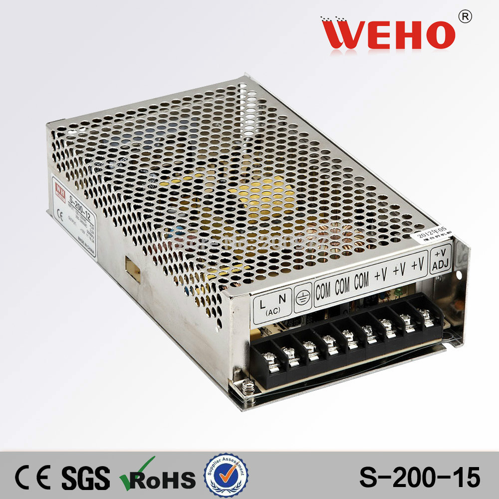 (S-200-15) Non-Waterproof 200W 15V Led Power Supply DC(China (Mainland))
