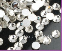 SS4(1.5mm)--High Shine 1440pcs Crystal white/silver Nail rhinestones high quality 10Gross