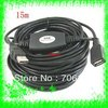 Free Shipping+15m/50ft USB 2.0 Active Repeater Extension cable 480Mbp with Booster