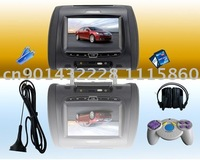 Car Headrest DVD !Free Shipping 2011 Newest 7 inch HD Digital screen with DVB-T Car Headrest Monitor ! 3 Color ! Headrest DVD !