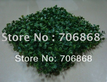 Artificial plastic boxwood grass mat 25cm*25cm