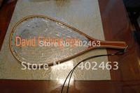 High quality wood frame rubber net landing net FL08   fly fishing / fishing  wood / rubber net, 60L*27.5W*23D