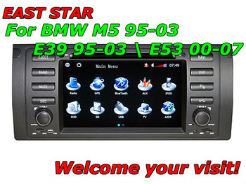 7'' for BMW E39 E53 M5  car PC dvd player with radio usb sd mp3 mp4 bluetooth ipod gps dvb-t can bus and other functions ES-1746