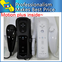 Best selling Nunchuck Remote Controller With Motion Plus Inside For Wii Black / White Optional