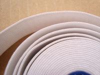 2.5cm width ,white ,elastic band,elastic webbing, MOQ is 40M/roll,FREE SHIPPING