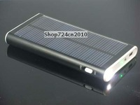 Solar panel Charger/2600mAh battery for PDA Mp4 Iphone 3G 4G+Flashlight