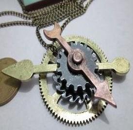 Free Shipping retail wholesale vintage alloy retro gear arrow necklace vintage jewelry fashion jewlery