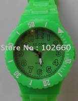 New Style 100pcs/lot Fashion unisex Silicon Solid Classic silicone watch +Free Shipping