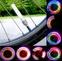 2 Pair Bicycle Spoke Light Bike Neon LED Light Car Valve Caps Light Bike Wheel Light