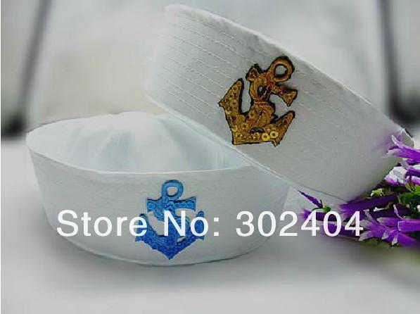 Grátis frete 6 estilo moda capitão cap Skipper marinha chapéu do marinheiro cap chapéu(China (Mainland))