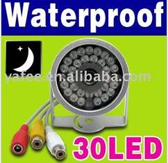 Free Shipping+30-LED+Stand Security Color Wired Infrared Waterproof CMOS CCTV Camera N50