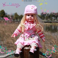 Music real baby doll toy,24inch doll + retail and wholesale
