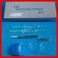 10 units/lot LED Teeth Whitening Kit 35% CP Pen Gel Mouth Tray