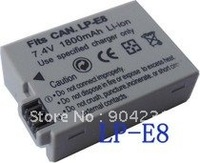 free shipping digital camera battery+1pc LP-E8 lpe8 Battery For Can Eos Rebel T2i 550D LPE8