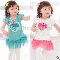106# Free shipment Girl dress dress 5 sizes wholesales 5pcs/lot